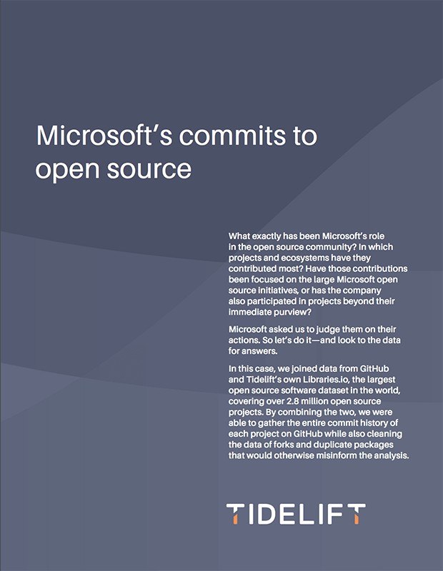 Microsoft's commits to open source