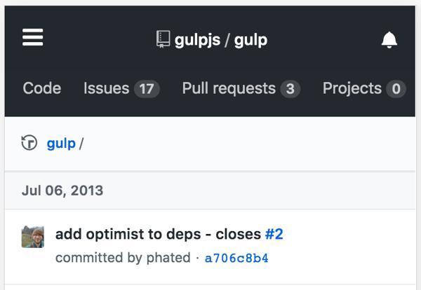 first-gulp-commit
